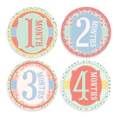 Sticky Bellies® Garden Party Milestone Stickers
