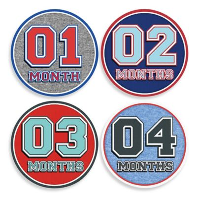 Sticky Bellies® Sporty Shorty Milestone Stickers