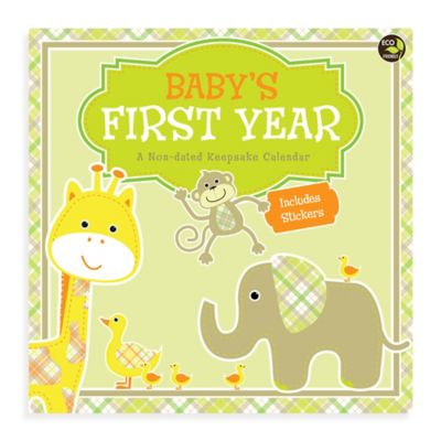 Baby's First Year Non-Dated Wall Calendar