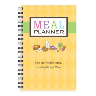Kahootie Co® Meal Planner Notebook in Yellow