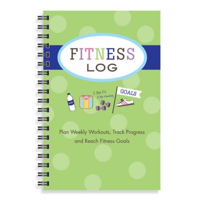 Kahootie Co® Fitness Log Notebook in Green