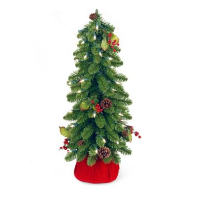 National Tree Downswept 2-Foot Pre-Lit Forestree Christmas Tree