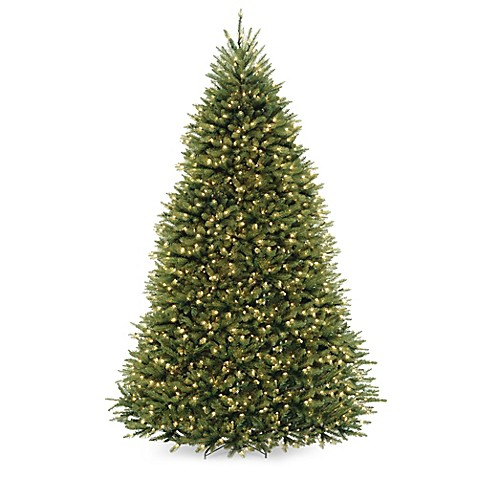 Tree 9 Foot Dunhill Fir Pre Lit Christmas Tree with Clear Lights ng74t1Qr