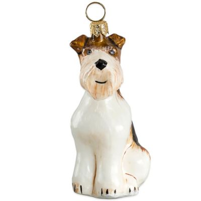Pet Set Joy to the World Collectibles Wire Fox Terrier Christmas Ornament