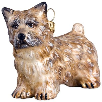Pet Set Joy to the World Collectibles Cairn Terrier Christmas Ornament in Cream