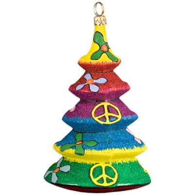 Glitterazzi Joy to the World Collectibles Tie Dye Christmas Tree Ornament