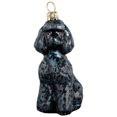 Pet Set Joy to the World Collectibles Toy Poodle Christmas Ornament in Black
