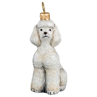 Pet Set Joy to the World Collectibles Toy Poodle Christmas Ornament in White