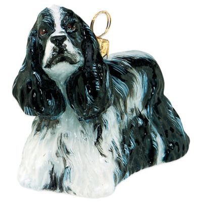 Pet Set Joy to the World Collectibles Cocker Spaniel Christmas Ornament in Black and White