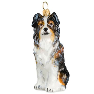 Pet Set Joy to the World Collectibles Australian Shepherd Christmas Ornament