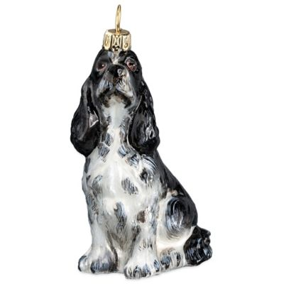 Pet Set Joy to the World Collectibles Springer Spaniel Christmas Ornament in Black and White