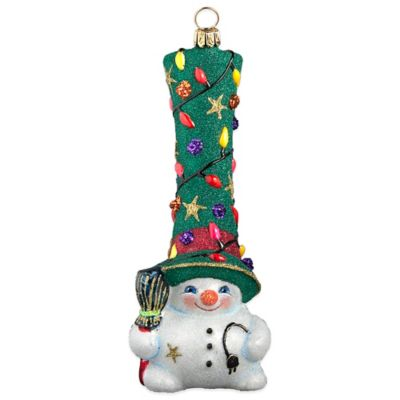 Glitterazzi Joy to the World Collectibles Gnome Snowman Hit the Lights Christmas Ornament