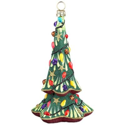 Glitterazzi Joy to the World Collectibles Gnome Tree Hit the Lights Christmas Ornament