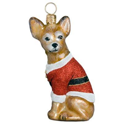 Diva Dog Joy to the World Collectibles Chihuahua Santa Paws Christmas Ornament