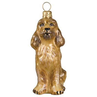 Joy to the World Collectibles Pet Set Cockapoo Christmas Ornament in Apricot