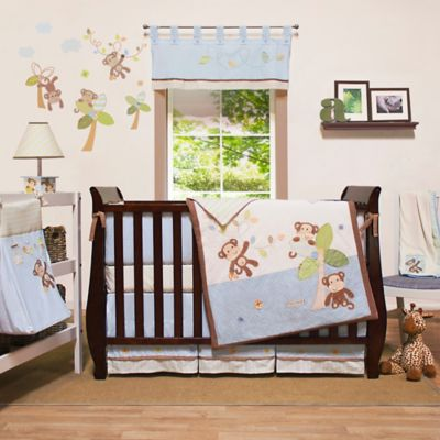 Little Haven Go Bananas 4-Piece Crib Bedding Set