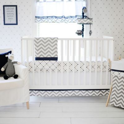 Navy Print Bedding