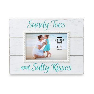 "Prinz Coast Time ""Sandy Toes"" 4-Inch x 6-Inch Frame"
