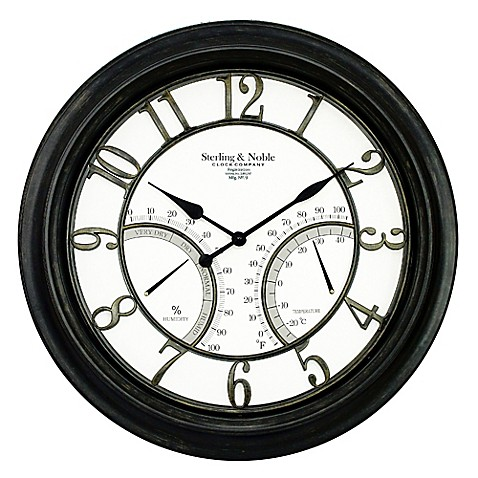 Sterling Noble Large Wall Clock Bed Bath Beyond