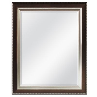 Bronze Bead 26-Inch x 32-Inch Wall Mirror
