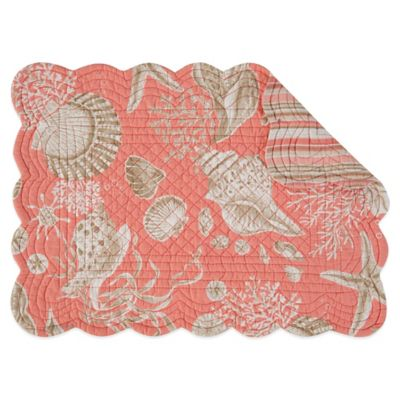 Natural Shells Coral Reversible Placemat