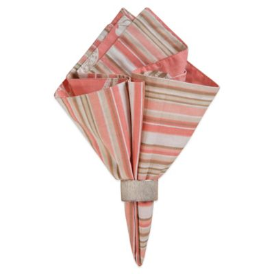 Natural Shells Coral Reversible Napkin