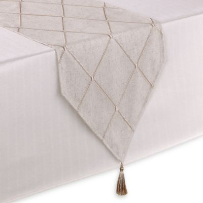 Sam Hedaya Wellington 72-Inch Table Runner in Cream