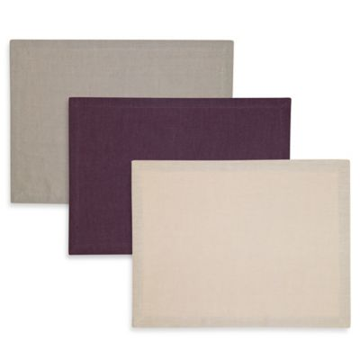 Kenneth Cole Reaction Home Mercer Placemat in Eggplant