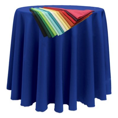 Basic 90-Inch Round Tablecloth in Black