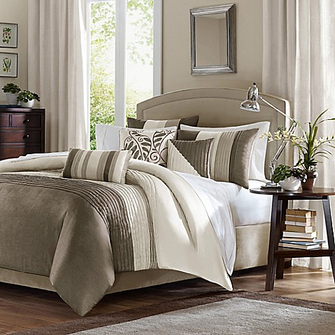 Buy Amherst Natural California King Comforter Set 7 Piece