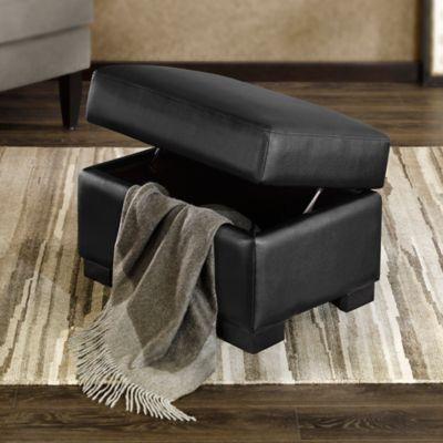 Regency Heights® Palmer Storage Ottoman in Black