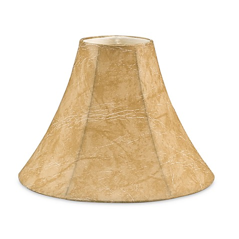 Mix & Match Small Faux Leather 11-Inch Bell Lamp Shade in Tan