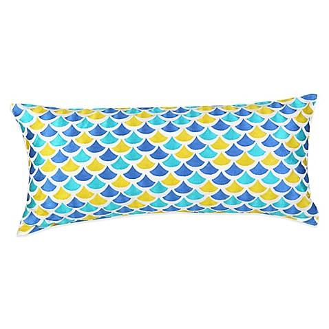 Blue Rectangle Throw Pillow : Trina Turk Pismo Rectangle Throw Pillow in Blue - Bed Bath & Beyond