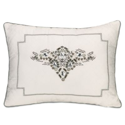 Jessica Simpson Bianca Luxe Emblematic Envy Oblong Throw Pillow