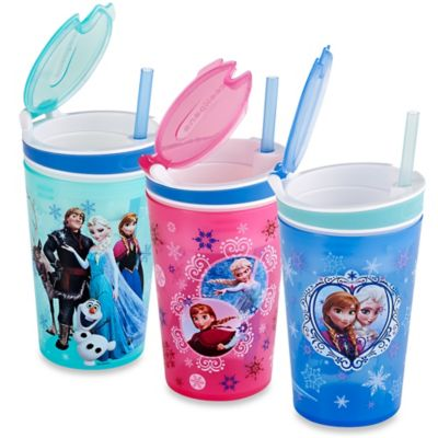 "Disney ""Frozen"" Snackeez!™ Jr. All-In-One Go Anywhere Snacking Solution in Pink"