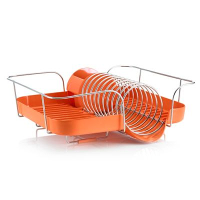 Polder Spring Dish Rack in White
