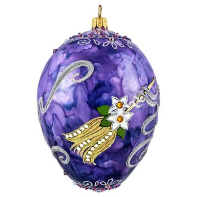 Joy to the World Collectibles Timeless Ceremonial Jeweled Egg