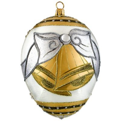 Joy to the World Collectibles Timeless Coupling Jeweled Egg Ornament
