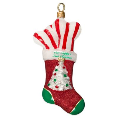 Pet Set Joy to the World Collectibles Diva Dog Puppy's First Christmas Stocking Ornament