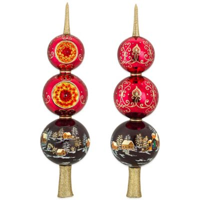 Joy to the World Collectibles Russian Ornaments Christmas Finial in Red