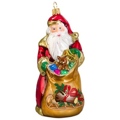 Joy to the World Collectibles Bratislava Santa - Yule Log Version Christmas Ornament