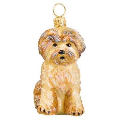 Pet Set Joy to the World Collectibles Tan Shorkie Christmas Ornament