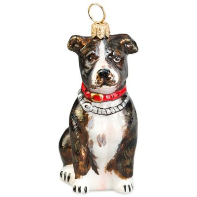 Pet Set Joy to the World Collectibles American Staffordshire Terrier Brindle Christmas Ornament