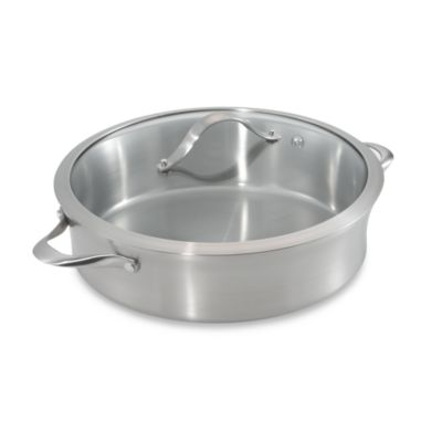 Calphalon® Contemporary Stainless Steel 5-Quart Sauteuse Pan