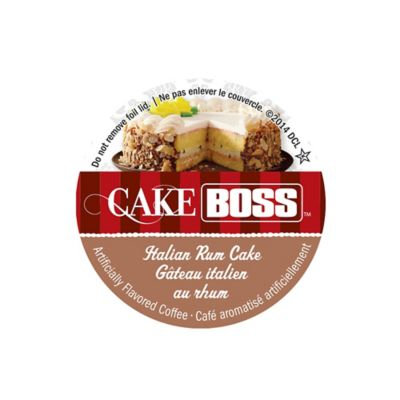 18-Count Cake Boss™ Italian Rum Cake Flavored Coffee For Single Serve Coffee Makers