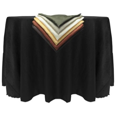 Kenya Contemporary African-Inspired Damask Textured 90-Inch Round Tablecloth in Black