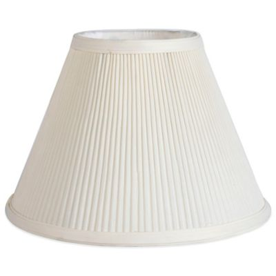 Mix & Match Small 11-Inch Pleated Empire Lamp Shade in Ivory