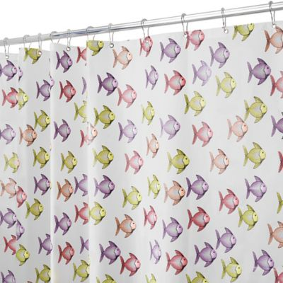 InterDesign® PEVA Fishy Shower Curtain in Pink/Purple