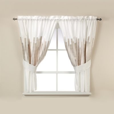 Kenneth Cole Reaction Home Frost Window Curtain Tier Pair