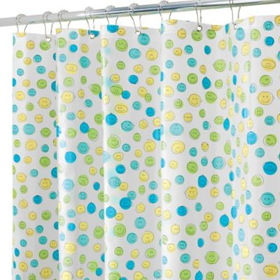 InterDesign® PEVA Smiley Shower Curtain